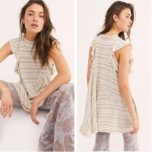NWT Free People Between the Lines Tunic Tank Top